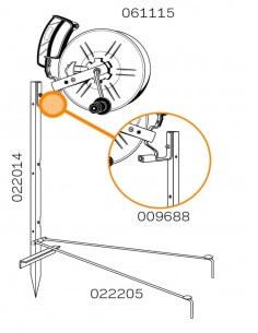 Piquet de coin 3 enrouleurs / 3 isolateurs